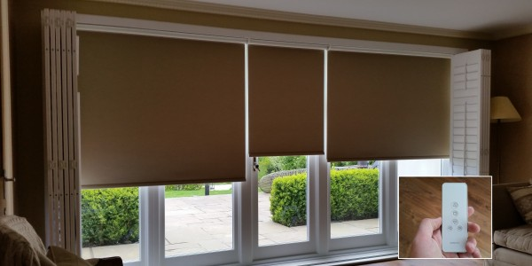 Rechargable Battery Operated Roller Blinds