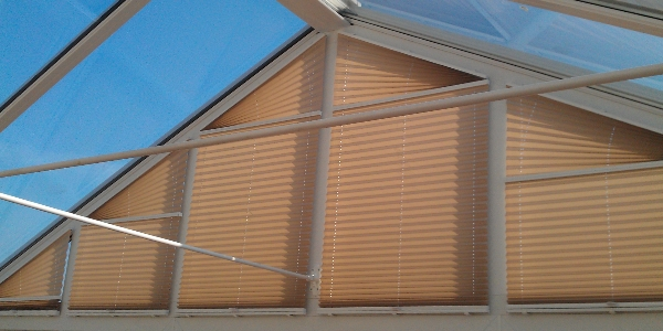 Shaped Pleated Blinds
