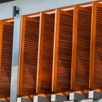 Wooden Panel Blinds Design