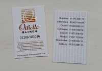 New Othello Blinds business cards are in!