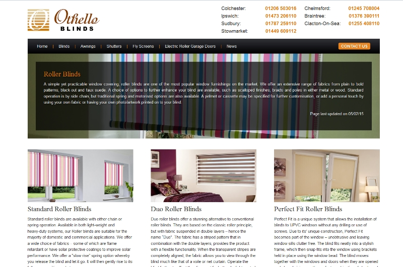 Revamped Roller Blinds page!