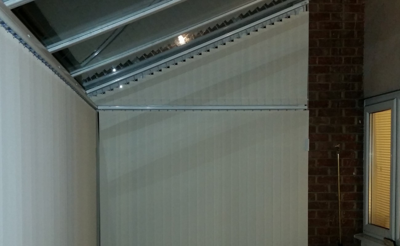 Sloped Vertical Blinds
