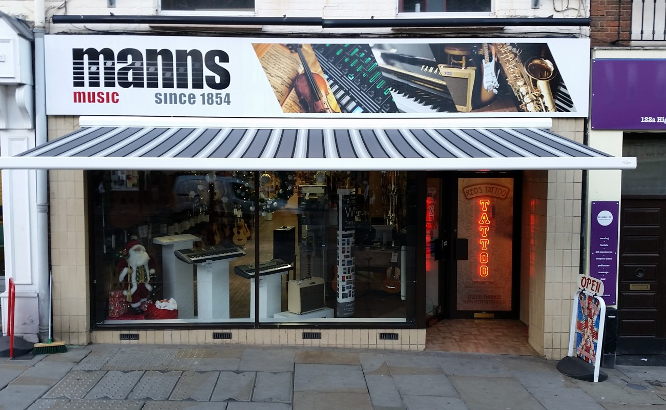 Manns Music Manual Awning