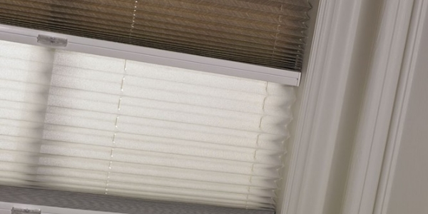 Dual Fabric Pleated Blinds