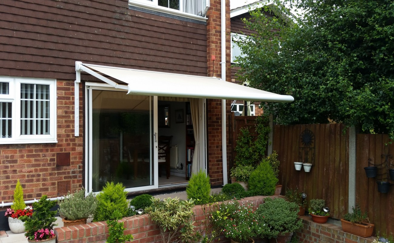 Electric awning replaces old manual awning