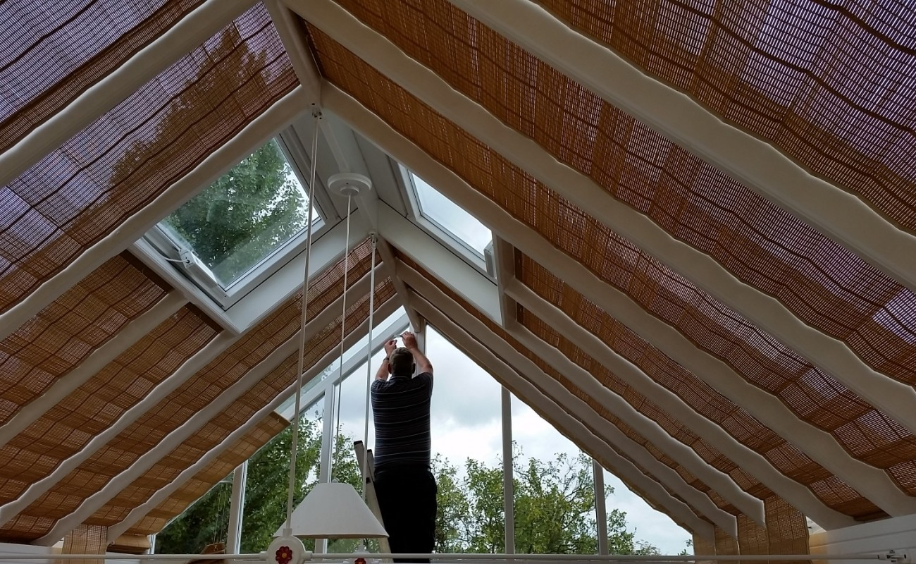 Wood Weave Conservatory Roof Blinds